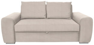 SCHLAFSOFA Beige - Chromfarben/Beige, Design, Holz/Textil (199/92/97cm) - Hom`in