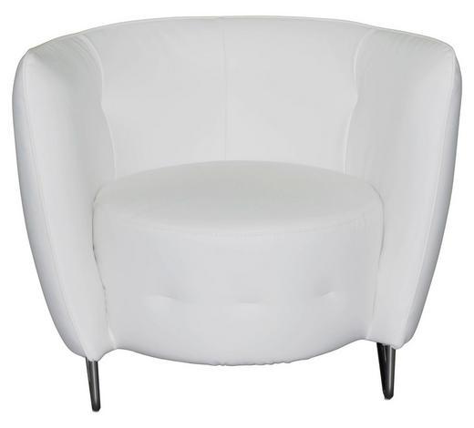SESSEL in Textil Weiß - Chromfarben/Weiß, Design, Textil (83/66/69cm) - Carryhome