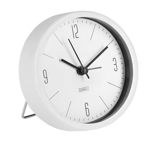 Wecker 9 cm   - Weiß, Basics, Kunststoff (9cm) - Ambia Home