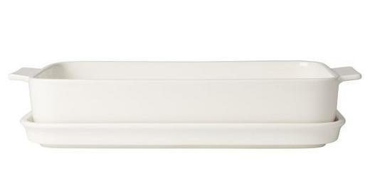 Auflaufform mit Deckel Keramik Porzellan - Creme, Basics, Keramik (30/20/8,5cm) - Villeroy & Boch