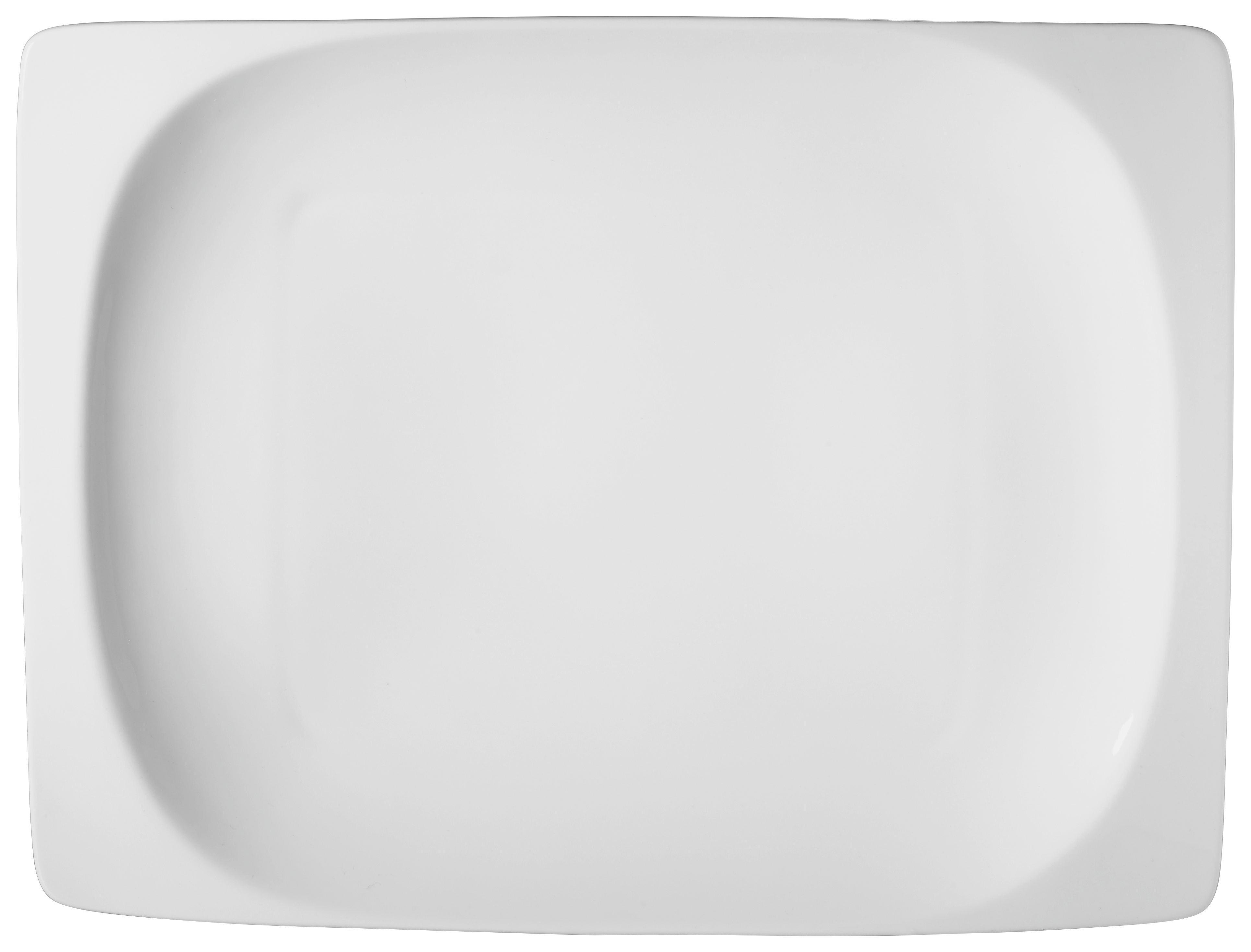 PLITVI KROŽNIK - bela, keramika (21,5/29,5/4cm) - RITZENHOFF BREKER