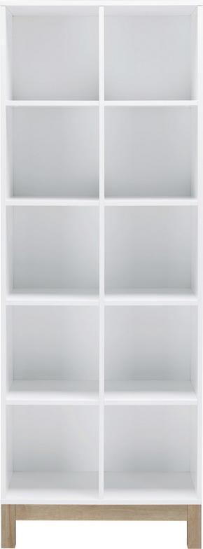 HYLLA - vit/ekfärgad, Design, träbaserade material (74/197/36cm)