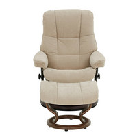 SESSELSET MAYFAIR M Velours Hocker - Wengefarben/Beige, Design, Holz/Textil (79/101/73cm) - Stressless