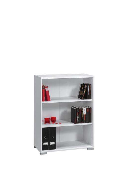 AKTENREGAL - Silberfarben/Weiß, KONVENTIONELL, Holzwerkstoff/Kunststoff (80/109,7/40cm)