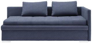 LIEGE in Textil Blau  - Chromfarben/Blau, KONVENTIONELL, Kunststoff/Textil (217/85/104cm) - Venda
