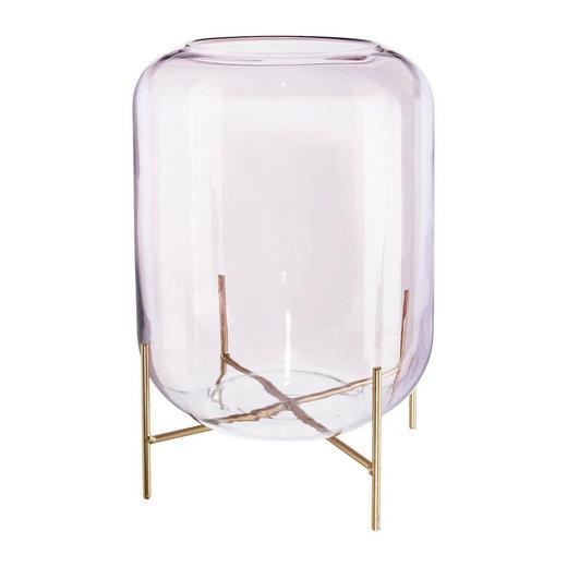 DEKOGLAS - Rosa, Design, Glas/Metall (19/33cm)