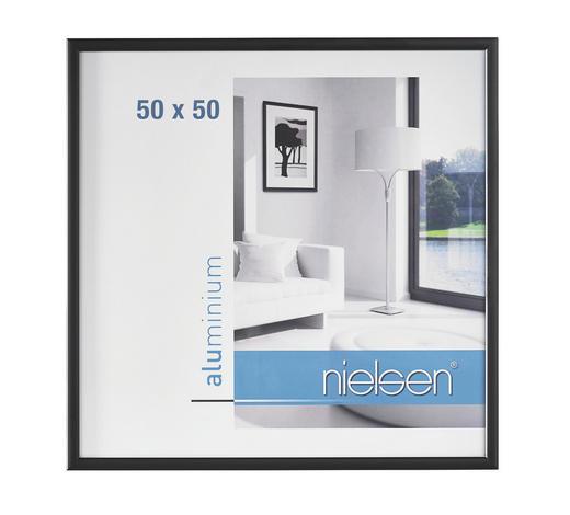 BILDERRAHMEN  Schwarz  - Schwarz, Basics, Metall (50/50cm) - Nielsen