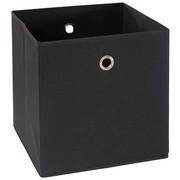 FALTBOX Metall, Textil, Karton Schwarz, Silberfarben  - Silberfarben/Schwarz, Design, Karton/Textil (32/32/32cm) - Carryhome