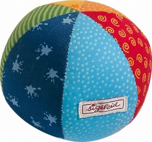STOFFBALL - Multicolor, Basics, Textil (11cm) - Sigikid