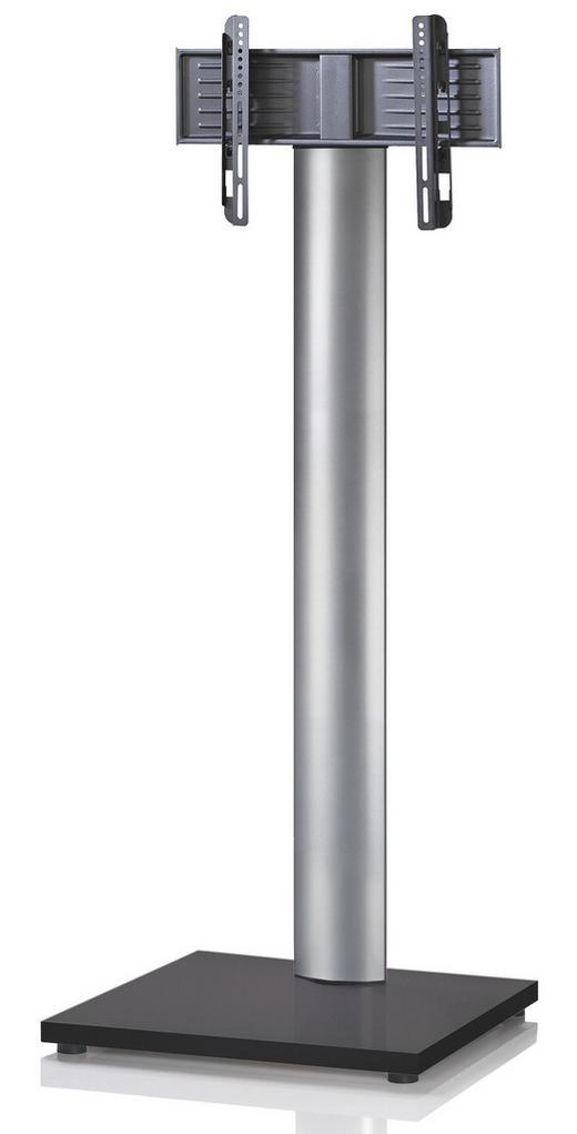 TV-RACK Metall Schwarz, Silberfarben - Silberfarben/Schwarz, KONVENTIONELL, Metall (68/174/60cm)