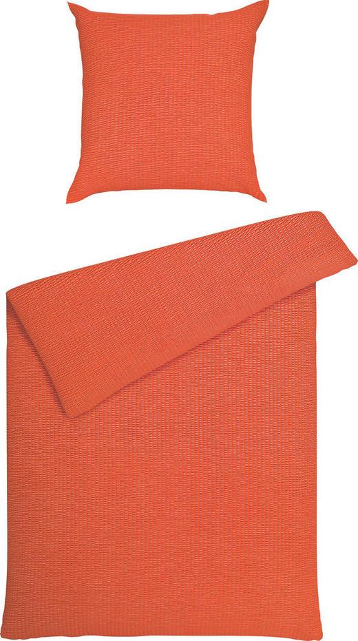 BETTWÄSCHE Seersucker Orange 135/200 cm - Orange, Basics, Textil (135/200cm) - JANINE