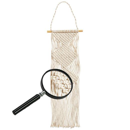MAKRAMEE-WANDBEHANG Textil - Beige, Basics, Textil (25/76cm)