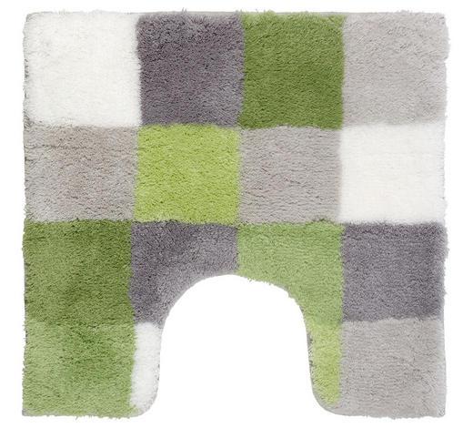 WC PŘEDLOŽKA, zelená - zelená, Design, textil/umělá hmota (55/3/55cm) - Kleine Wolke