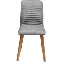 STUHL Flachgewebe Eiche massiv Grau, Eichefarben  - Eichefarben/Grau, Design, Holz/Textil (44/92/45cm) - Kare-Design
