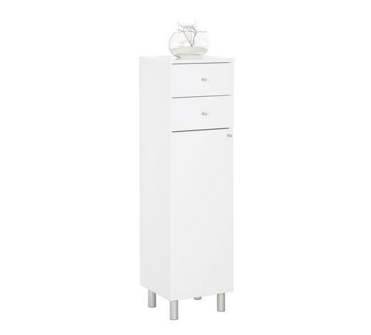 BOČNÍ SKŘÍŇ, bílá,  - bílá/barvy stříbra, Konvenční, kov/dřevo (35,2/123,6/33cm) - Xora