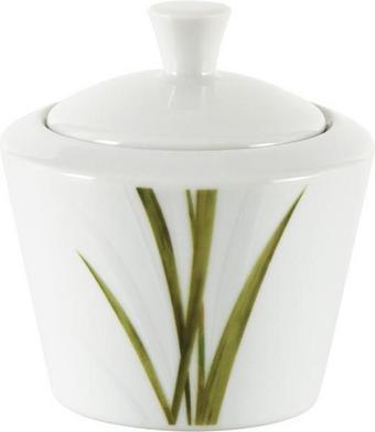 SOCKERSKÅL - vit/grön, Klassisk, keramik (9/9/8cm) - Ritzenhoff Breker