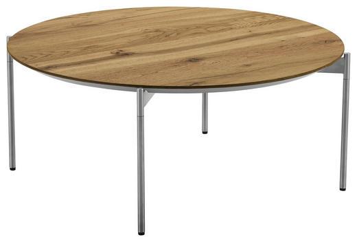 COUCHTISCH in Holz, Metall - Edelstahlfarben/Eichefarben, Design, Holz/Metall (83/42cm) - Venjakob