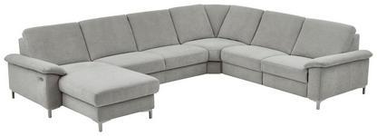 WOHNLANDSCHAFT Silberfarben - Silberfarben/Alufarben, Design, Textil/Metall (175/333/265cm) - Dieter Knoll