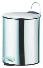 TRETEIMER Metall - Chromfarben/Schwarz, Basics, Kunststoff/Metall (19,5/26cm)