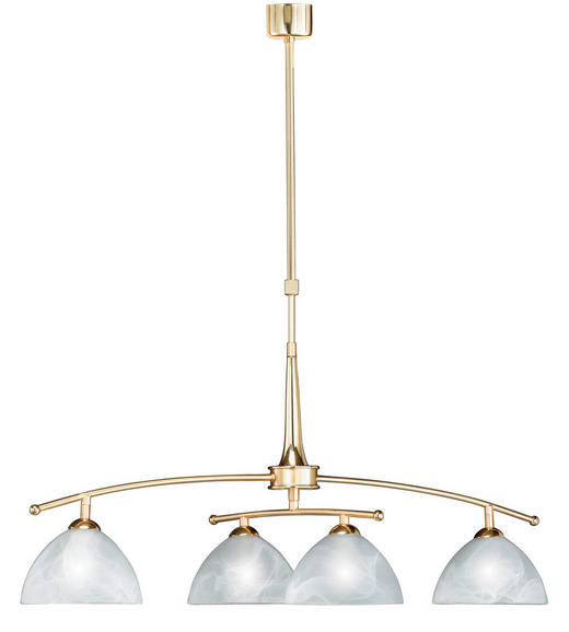 HÄNGELEUCHTE - Messingfarben/Weiß, KONVENTIONELL, Glas/Metall (85cm)