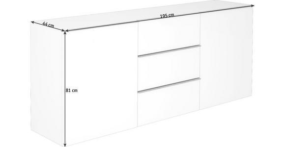 SIDEBOARD 195/81/44 cm  - Eichefarben/Schwarz, Design, Holzwerkstoff/Kunststoff (195/81/44cm) - Dieter Knoll