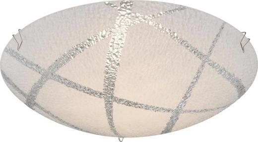 LED-DECKENLEUCHTE - Weiß, Design, Glas/Metall (25/8cm) - Boxxx
