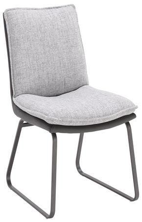 STOL - ljusgrå/grå, Design, metall/textil (66 87 48,50cm) - Novel