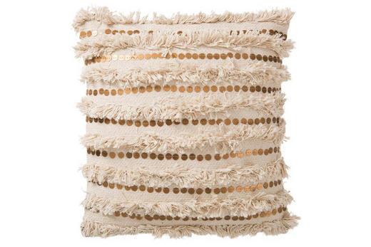 ZIERKISSEN - Goldfarben/Creme, LIFESTYLE, Textil (45/45/1cm)
