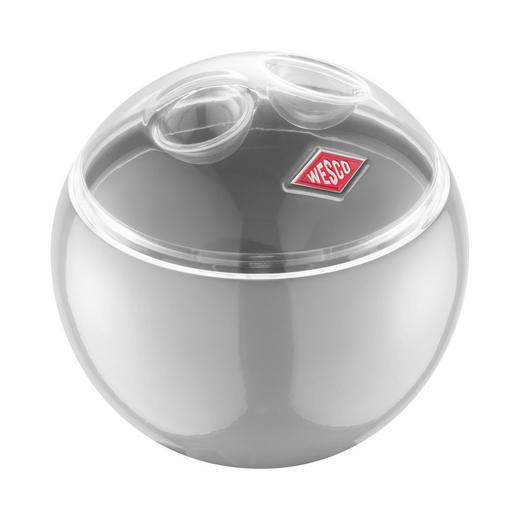 VORRATSDOSE - Transparent/Hellgrau, Basics, Kunststoff/Metall (12,5/11,9cm) - Wesco