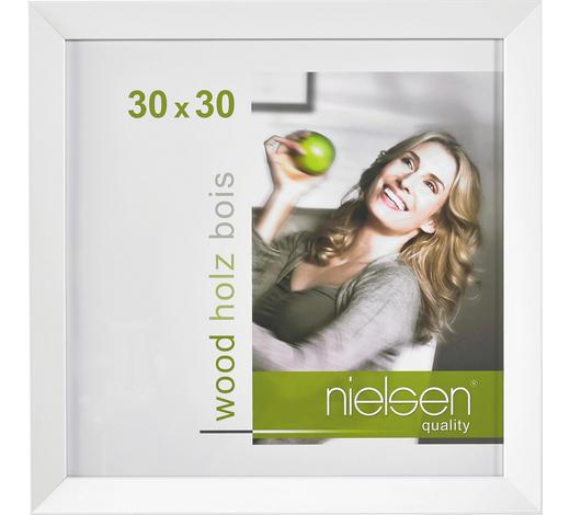BILDERRAHMEN  Weiß  - Weiß, Basics, Holz (30/30cm) - Nielsen