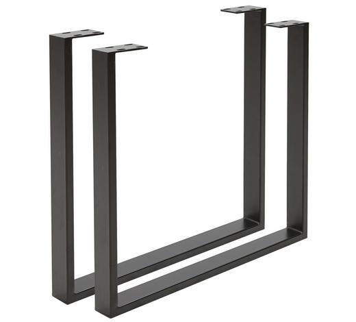 KONSTRUKCE STOLU, černá - černá, Design, kov (78/72/7,5cm) - Valdera