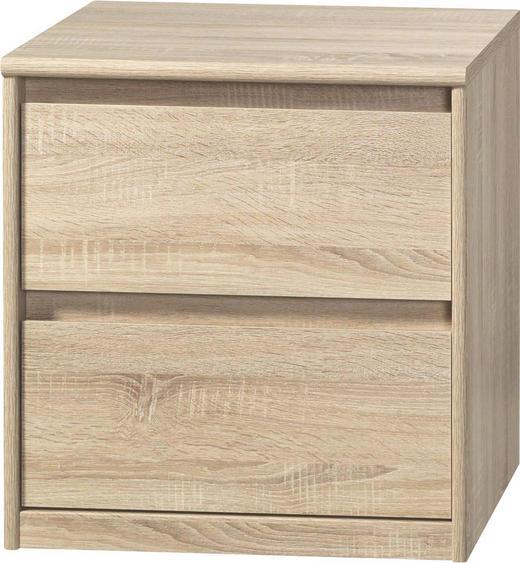 KOMMODE Eichefarben - Eichefarben, Design, Holzwerkstoff (55/58/45cm) - CS SCHMAL