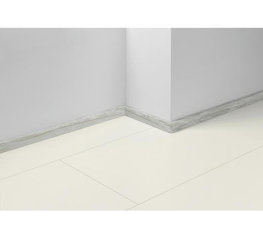 SOCKELLEISTE Weiß, Eichefarben, Hellgrau - Eichefarben/Hellgrau, Basics, Holzwerkstoff (257/1,6/4cm) - Parador