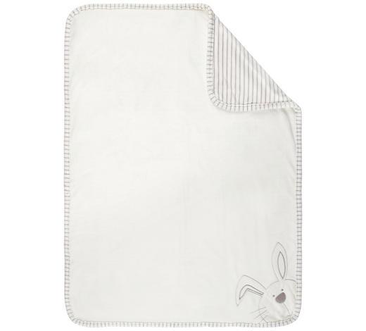 SCHMUSEDECKE 75/100 cm  - Silberfarben/Weiß, Basics, Textil (75/100cm) - My Baby Lou