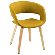 ŽIDLE, textilie, žlutá, - žlutá, Design, dřevo/textilie (56/75/52cm) - Carryhome