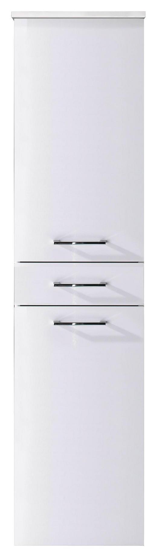 HOCHSCHRANK Weiß - Chromfarben/Weiß, Design, Holzwerkstoff/Metall (40/160/35cm)