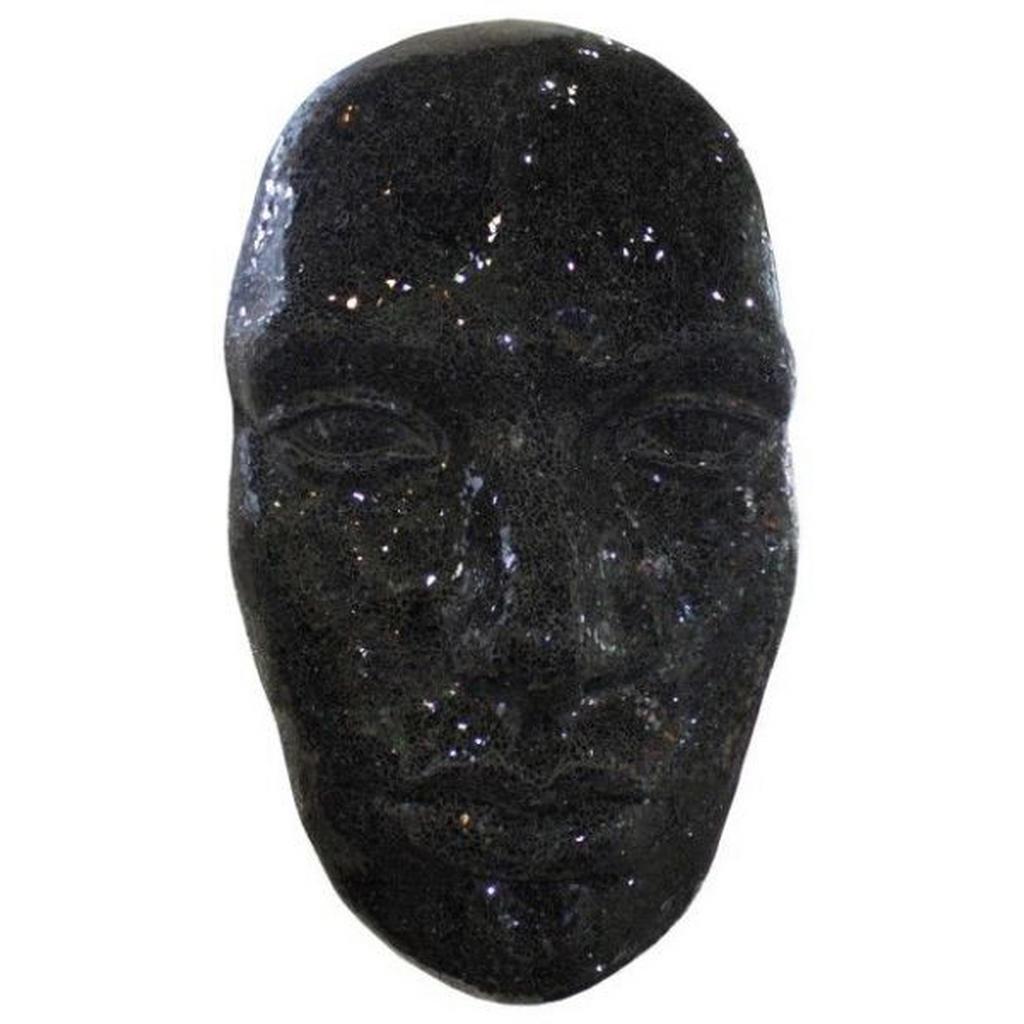 Image of Ambia Home Dekomaske , Dt-343 , Schwarz , Kunststoff, Glas , 60x104x30 cm , glänzend,rückseitig lackiert , zum Hängen , 0089430004