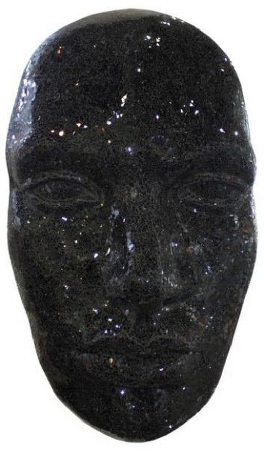Dekomaske - Schwarz, LIFESTYLE, Glas (60/104/30cm) - Ambia Home