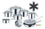 SET POSOD 10/1 CAILIN - srebrna, Basics, kovina