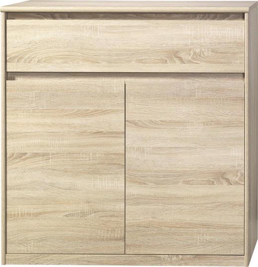 KOMMODE Eichefarben - Eichefarben, Design, Holzwerkstoff (106/110/45cm) - Cs Schmal