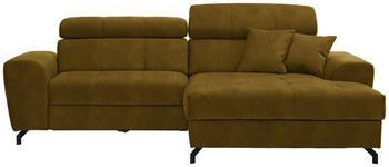 WOHNLANDSCHAFT in Textil Gelb  - Gelb/Schwarz, MODERN, Textil/Metall (267/181cm) - Carryhome