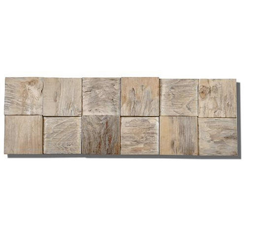 WANDVERKLEIDUNG - Teakfarben, Holz (52,2 cm/18,4 cm/1-2cm) - Venda