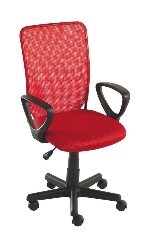 JUGENDDREHSTUHL - Rot/Schwarz, Design, Kunststoff/Textil (54/90,5-102,5/54cm) - Carryhome