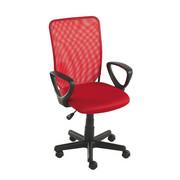 OTOČNÁ ŽIDLE, červená, černá, síťovina - černá/červená, Design, textil/umělá hmota (54/90,5-102,5/54cm) - Carryhome