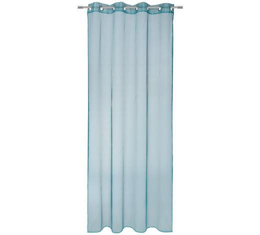 ÖSENVORHANG halbtransparent  - Petrol, KONVENTIONELL, Textil (140/245cm) - Esposa