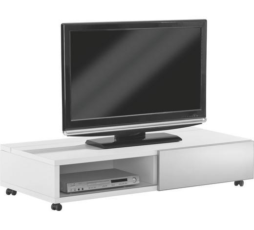 TV-ELEMENT 125/26,7/44,3 cm - Silberfarben/Weiß, Design, Glas/Holzwerkstoff (125/26,7/44,3cm) - Xora
