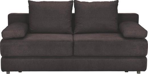 SCHLAFSOFA Webstoff Braun, Schwarz - Schwarz/Braun, KONVENTIONELL, Kunststoff/Textil (208/80/100cm) - CARRYHOME