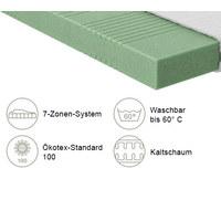 KALTSCHAUMMATRATZE Gigant 500 roll-pack 90/200 cm  - Weiß, Basics, Textil (90/200cm) - Schlaraffia