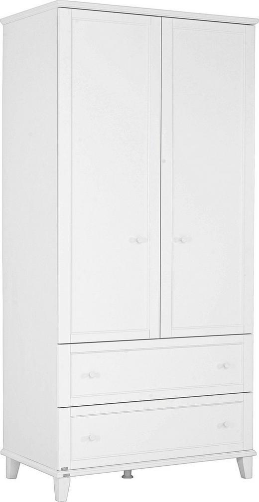 KLEIDERSCHRANK 2  -türig Weiß - Weiß, Basics, Holzwerkstoff (96,9/200,1/56,6cm) - PAIDI