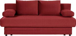 SCHLAFSOFA in Textil Rot  - Rot, Design, Textil (200/90/100cm) - Novel